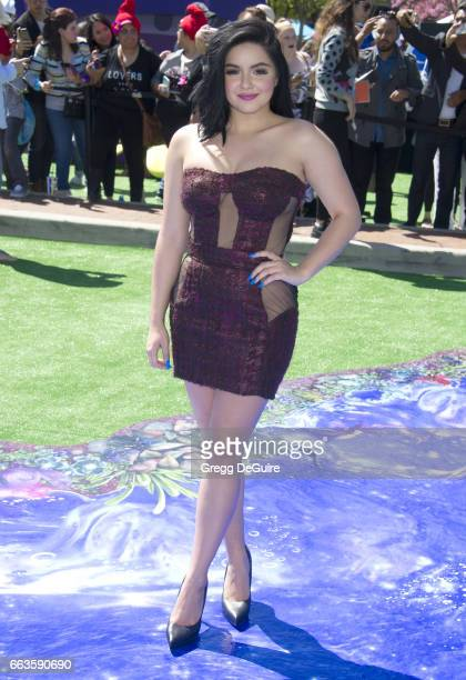 Actress Ariel Winter arrives at the premiere of Sony Pictures' 'Smurfs The Lost Village' at ArcLight Cinemas on April 1 2017 in Culver City California