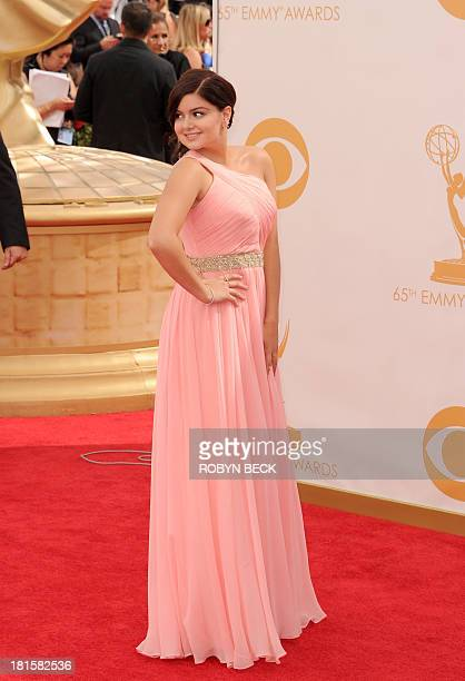 Actress Ariel Winter arrives on the red carpet for the 65th Emmy Awards in Los Angeles on September 22 2013 AFP PHOTO / Robyn Beck