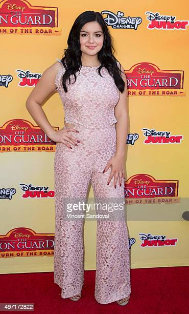 Actress Ariel Winter attends the premiere of Disney Channel's 'The Lion Guard Return Of The Roar' at Walt Disney Studios on November 14 2015 in...