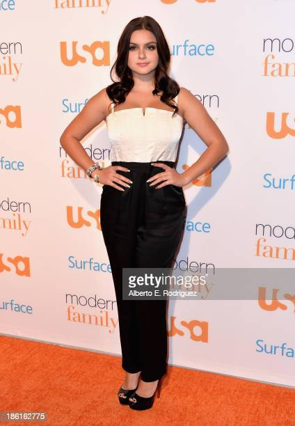 Actress Ariel Winter attends USA Network's 'Modern Family' fan appreciation day at Westwood Village on October 28 2013 in Los Angeles California