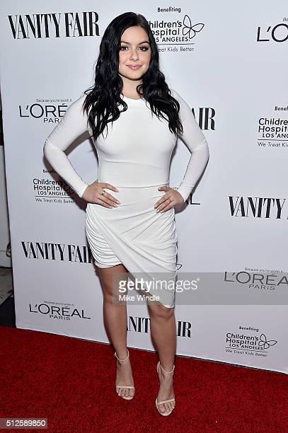 Actress Ariel Winter attends Vanity Fair L'Oreal Paris Hailee Steinfeld host DJ Night at Palihouse Holloway on February 26 2016 in West Hollywood...