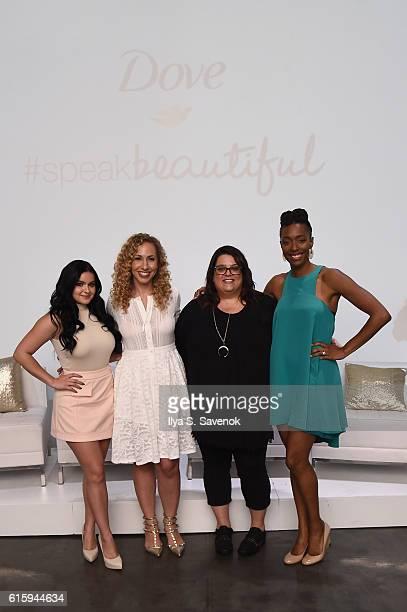 Actress Ariel Winter, Jeannette Kaplun, Dove Global Self-Esteem Ambassador Jess Weiner and Franchesca Ramsey attend a Dove Self-Esteem Workshop to...