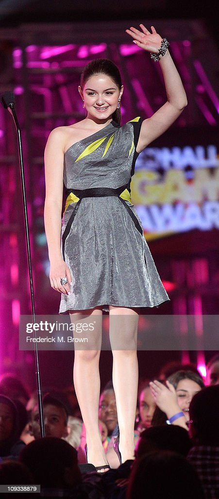 Actress Ariel Winter speaks during the First Annual Cartoon Network's 'Hall of Game' award show at the Barker Hanger on February 21, 2011 in Santa Monica, California.