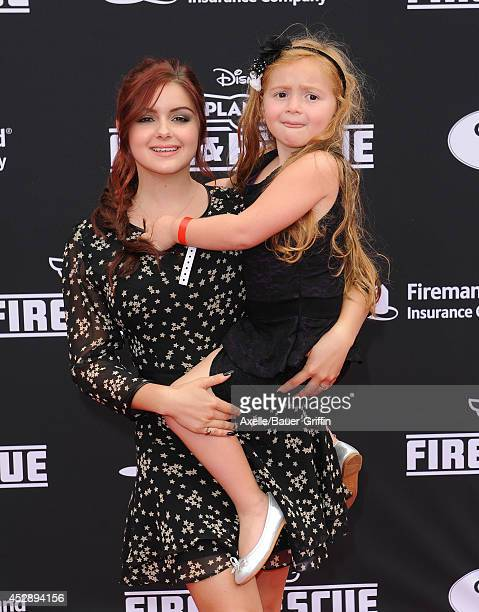 Actress Ariel Winters and her niece Skyler Gray attend the premiere of 'Planes Fire Rescue' at the El Capitan Theatre on July 15 2014 in Hollywood...