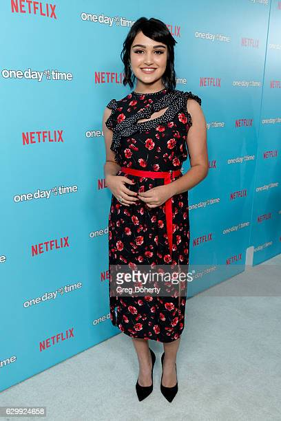 Actress Ariela Barer arrives for the Premiere Of Netflix's 'One Day At A Time' at The London West Hollywood at Beverly Hills on December 14 2016 in...