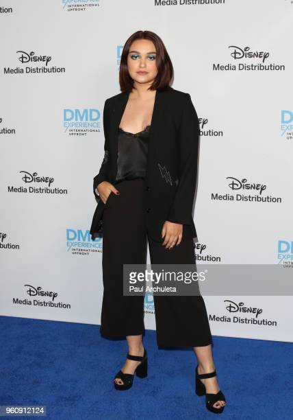 Actress Ariela Barer attends the Disney/ABC International Upfronts at the Walt Disney Studio Lot on May 20 2018 in Burbank California