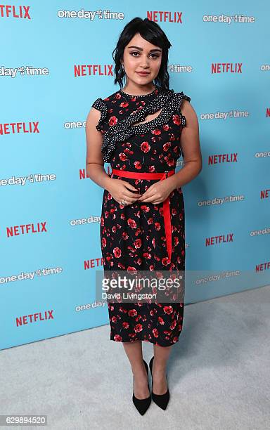 Actress Ariela Barer attends the premiere of Netflix's One Day at a Time at The London West Hollywood at Beverly Hills on December 14 2016 in West...