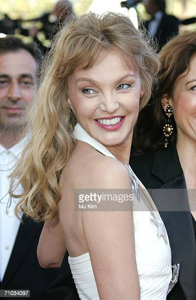 Actress Arielle Dombasle attends the 'Marie Antoinette' premiere at the Palais des Festivals during the 59th International Cannes Film Festival May...