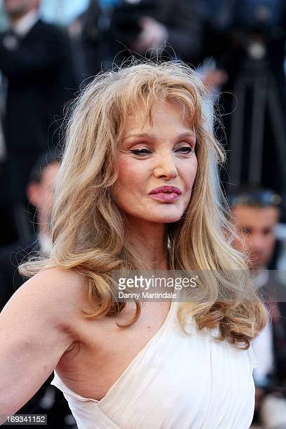 Actress Arielle Dombasle attends the Premiere of 'Nebraska' during the 66th Annual Cannes Film Festival at The Palais des Festivals on May 23 2013 in...