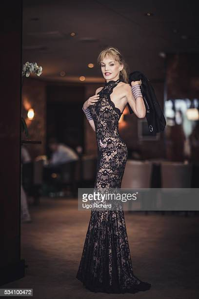 Actress Arielle Dombasle is photographed for Gala on May 15 2016 in Cannes France
