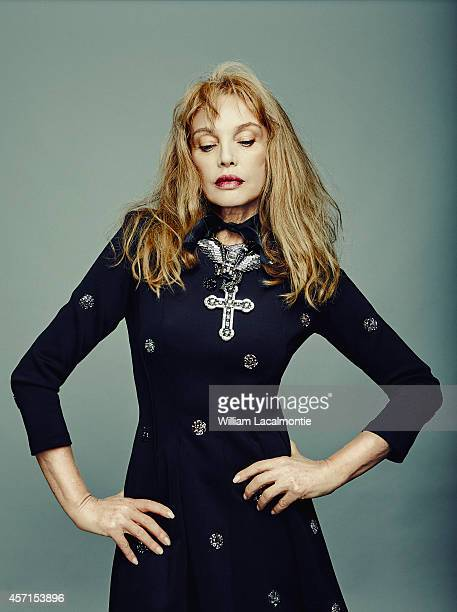 Actress Arielle Dombasle is photographed for Le Film Francais in Deauville France