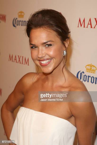Actress Arielle Kebbel arrives at Maxim's 10th Annual Hot 100 Celebration Presented by Dr Pepper Cherry True Religion Brand Jeans Stolichnaya Vodka...