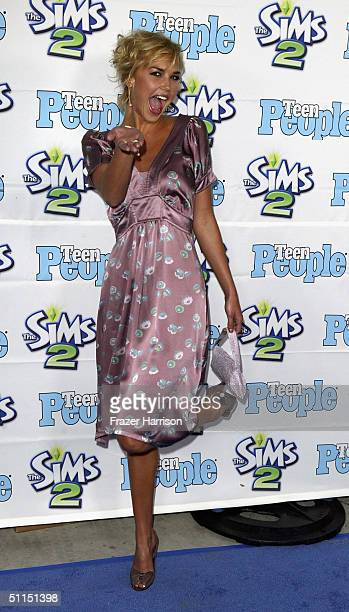 """Actress Arielle Kebbel arrives at the 1st Annual Teen People """"Young Hollywood"""" Issue party held on August 7, 2004 at the Teen People mansion in the..."""