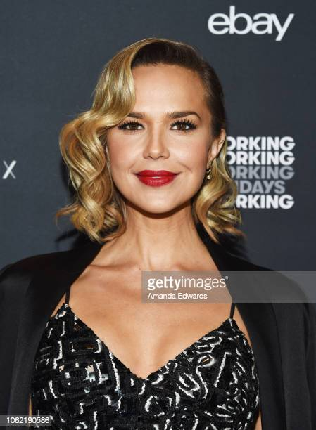 Actress Arielle Kebbel arrives at the NowWith Presented By Yahoo Lifestyle In Partnership With Working Sundays Series With Nicole Richie's Honey Minx...