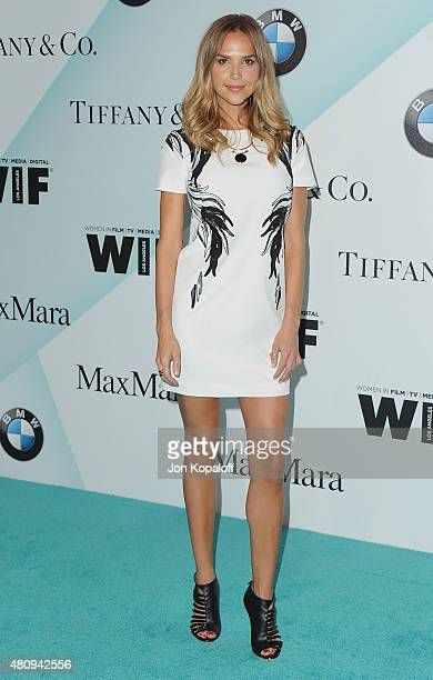 Actress Arielle Kebbel arrives at Women In Film 2015 Crystal Lucy Awards at the Hyatt Regency Century Plaza on June 16 2015 in Los Angeles California
