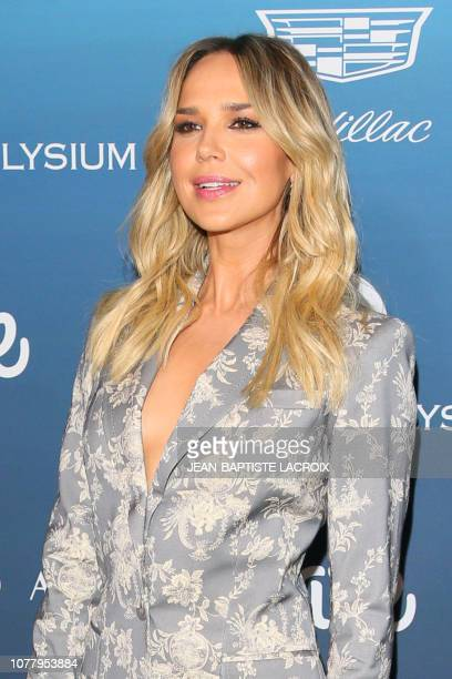 US actress Arielle Kebbel arrives for the Art of Elysium's 12th annual Gala in Los Angeles California on January 5 2019