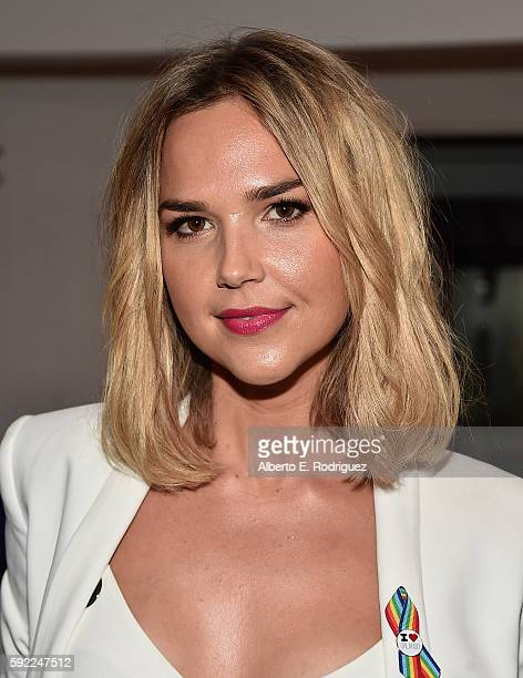Actress Arielle Kebbel attends a cocktail reception Benefit for onePULSE Foundation at NeueHouse Hollywood on August 19 2016 in Los Angeles California