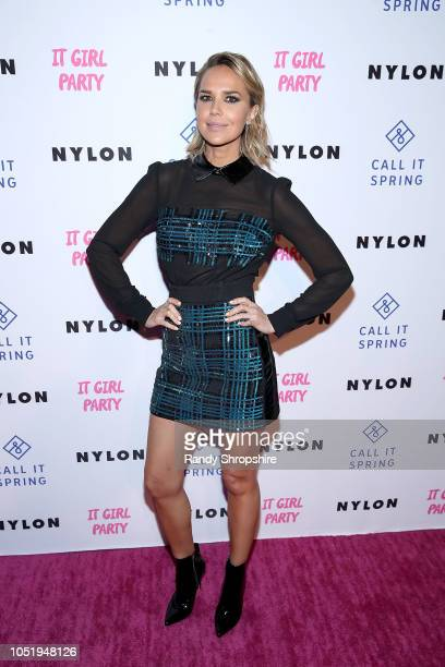 Actress Arielle Kebbel attends NYLON's annual It Girl Party sponsored by Call It Spring at Ace Hotel on October 11 2018 in Los Angeles California