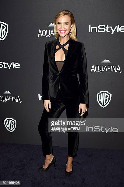 Actress Arielle Kebbel attends The 2016 InStyle And Warner Bros 73rd Annual Golden Globe Awards PostParty at The Beverly Hilton Hotel on January 10...