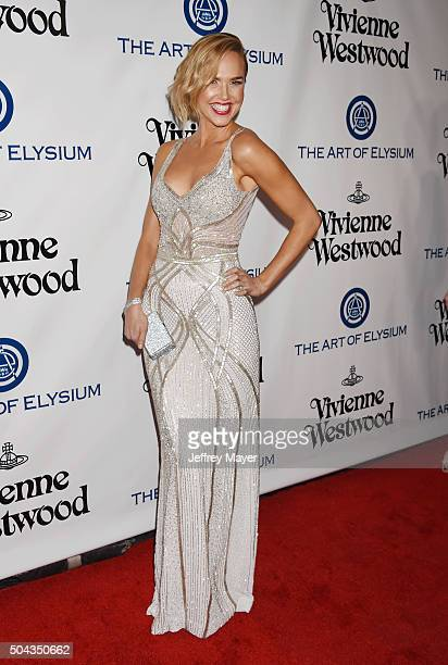 Actress Arielle Kebbel attends the Art of Elysium 2016 HEAVEN Gala presented by Vivienne Westwood Andreas Kronthaler at 3LABS on January 9 2016 in...