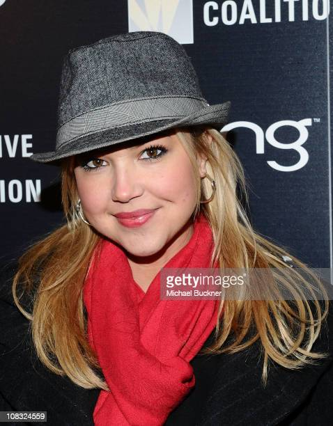 Actress Arielle Kebbel attends The Creative Coalition's Teachers Making a Difference Luncheon Presented by Bing on January 25, 2011 in Park City,...