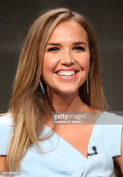 Actress Arielle Kebbel speaks onstage at the The After panel during the Amazon Prime Instant Video portion of the 2014 Summer Television Critics...