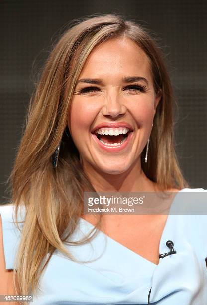 Actress Arielle Kebbel speaks onstage at the 'The After' panel during the Amazon Prime Instant Video portion of the 2014 Summer Television Critics...