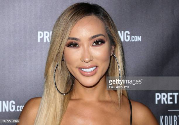 Actress Arika Sato attends the PrettyLittleThing by Kourtney Kardashian launch party on October 25 2017 in Los Angeles California