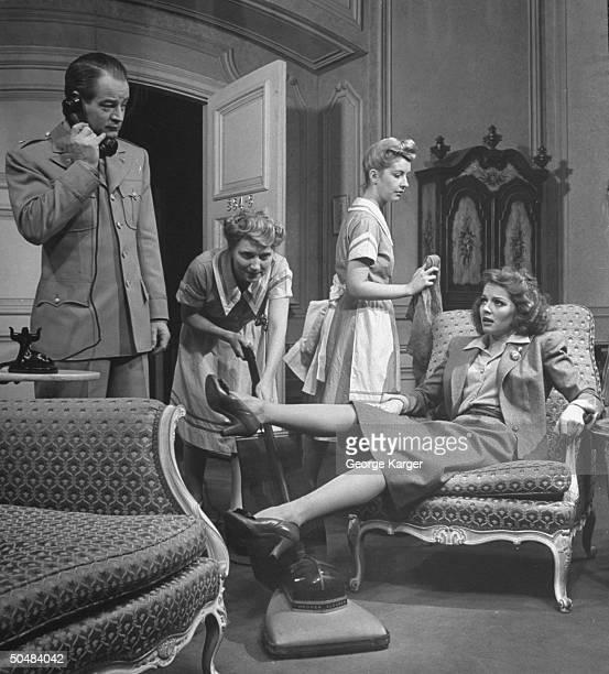 Actress Arleen Whelan performing in the play The Doughgirls