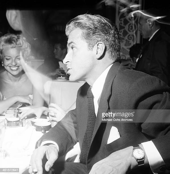 Actress Arlene Dahl and actor Fernando Lamas attend a dinner in Los Angeles California