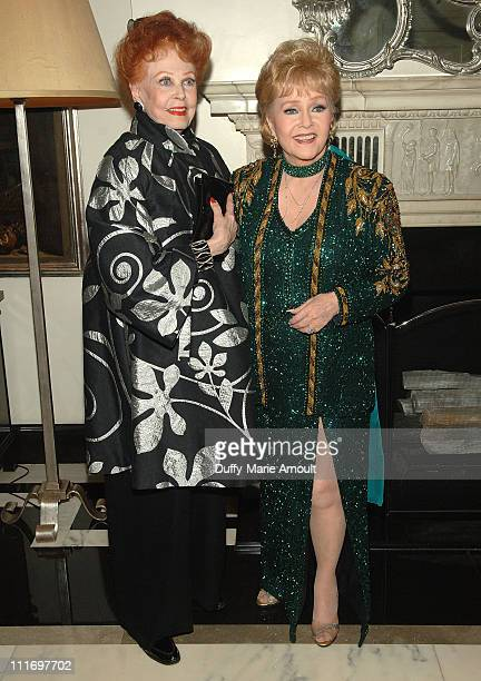 Actress Arlene Dahl and Debbie Reynolds attend the opening night of 'Debbie Reynolds An Evening of Music and Comedy' at Cafe Carlyle on June 3 2009...
