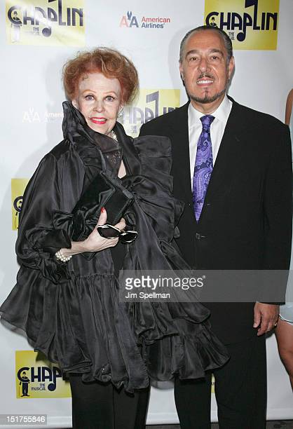 Actress Arlene Dahl and husband Marc Rosen attend the 'Chaplin' Broadway opening night at The Ethel Barrymore Theatre on September 10 2012 in New...