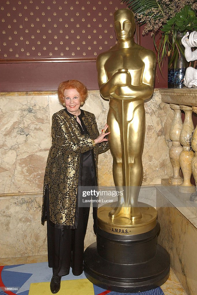 Actress Arlene Dahl arrives at the official Academy of Motion Picture Arts & Sciences Oscar Night Viewing Party at Le Cirque 2000 restaurant March 23, 2003 in New York City.