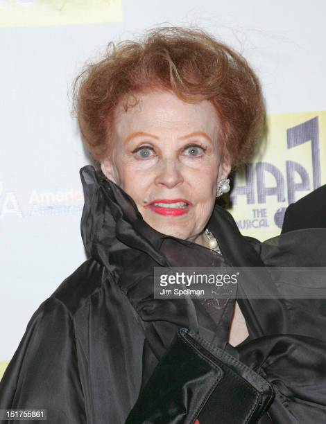 Actress Arlene Dahl attends the 'Chaplin' Broadway opening night at The Ethel Barrymore Theatre on September 10 2012 in New York City