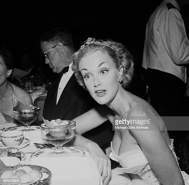 Actress Arlene Dahl attends the Makeup Artists Ball in Los Angeles California