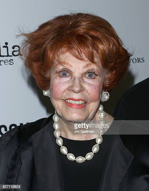Actress Arlene Dahl attends the premiere of 'Harry Benson Shoot First' hosted by Magnolia Pictures and The Cinema Society at the Beekman Theatre on...