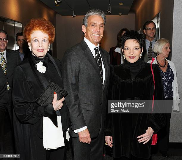 Actress Arlene Dahl Charles Cohen Lighthouse board member and benefactor of the Lighthouse Theater restoration and actress Liza Minnelli attend the...