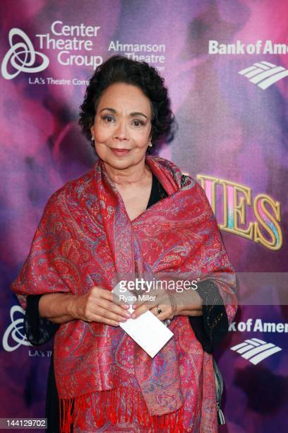 Actress Arlene Martel arrives for the opening night performance of Follies at Center Theatre Group/Ahmanson Theatre on May 9 2012 in Los Angeles...
