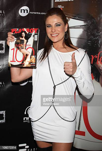 Actress Arleth Teran Playboy Mexico 100th Anniversary issue cover girl attends the Playboy Mexico 100th Anniversary Issue party at Level B on...