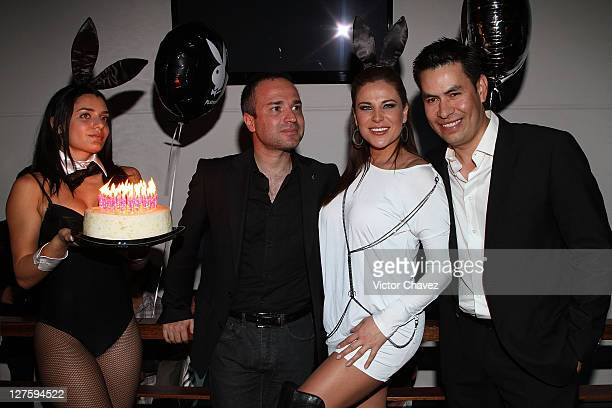 Actress Arleth Teran Playboy Mexico 100th Anniversary issue cover girl and magazine staff attend the Playboy Mexico 100th Anniversary Issue party at...