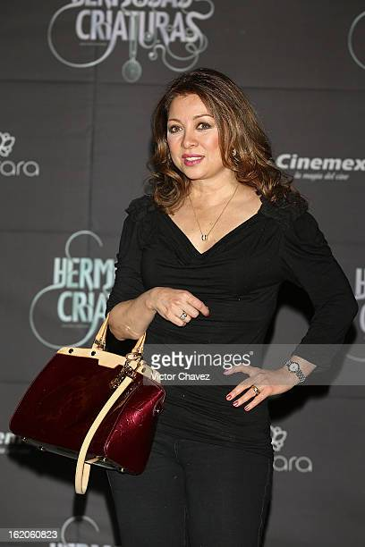 Actress Arlette Pacheco attends the Beautiful Creatures Mexico City premiere at Cinemex Antara on February 18 2013 in Mexico City Mexico