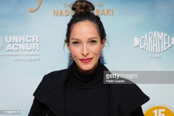 Actress Arlette Torres attends the 'Cafarnaum' charity premiere in support of ACNUR at Renoir Princesa Cinema on February 14 2019 in Madrid Spain