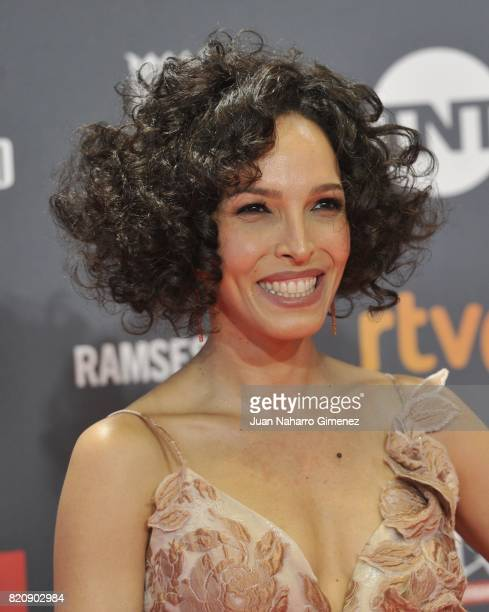 Actress Arlette Torres attends the 'Platino Awards 2017' photocall at La Caja Magica on July 22 2017 in Madrid Spain