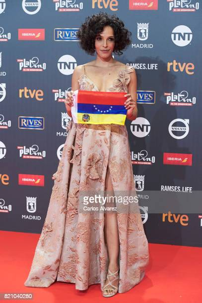 Actress Arlette Torres attends the Platino Awards 2017 photocall at the La Caja Magica on July 22 2017 in Madrid Spain
