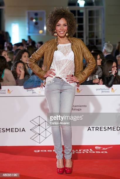 Actress Arlette Torres attends the 'Todos Estan Muertos' premiere during the 17th Malaga Film Festival 2014 Day 7 on March 27 2014 in Malaga Spain