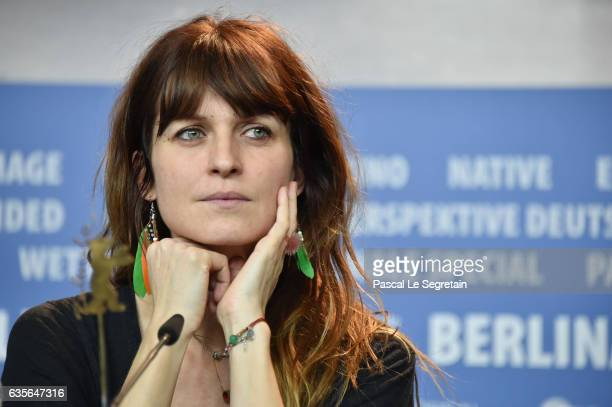 Actress Arly Jover attends the 'A Prominent Patient' press conference during the 67th Berlinale International Film Festival Berlin at Grand Hyatt...