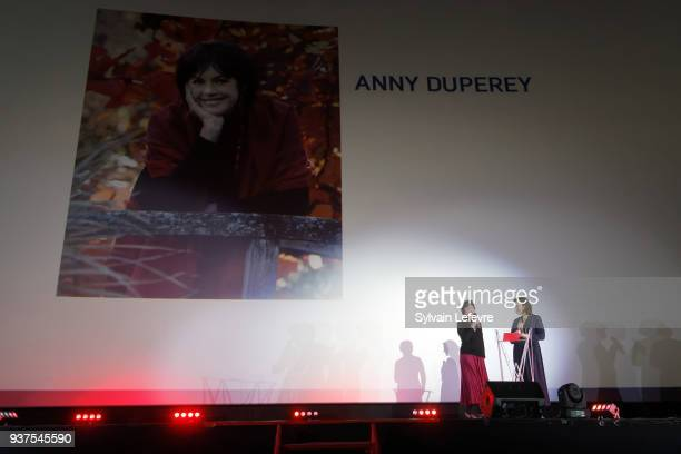 Actress Armelle and Anny Duperey attend the tribute to Anny Duperey during the closing ceremony of Valenciennes Film Festival on March 24 2018 in...
