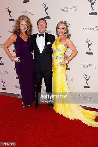 Actress Arriane Alexander and TV hosts Joseph McDonald and Tamara Henry arrive at the Academy of Television Arts Sciences 65th Los Angeles Area Emmy...