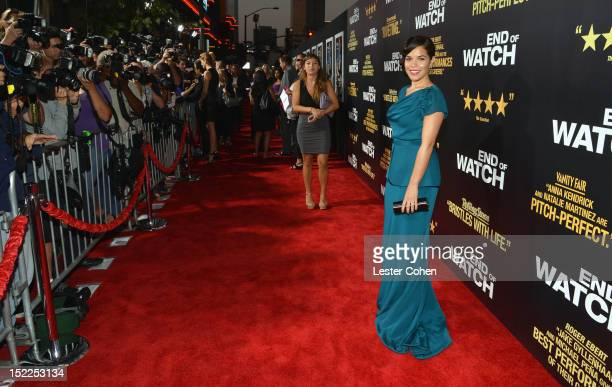 Actress arrives at the End Of Watch Los Angeles Premiere at Regal Cinemas LA Live on September 17 2012 in Los Angeles California