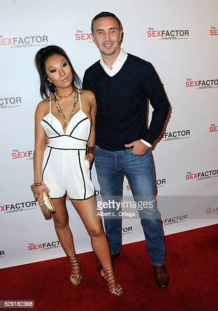 Actress Asa Akira and actor Kieran Lee arrives for the Premiere Party For The Sex Factor held at Lure Nightclub on May 7 2016 in Los Angeles...